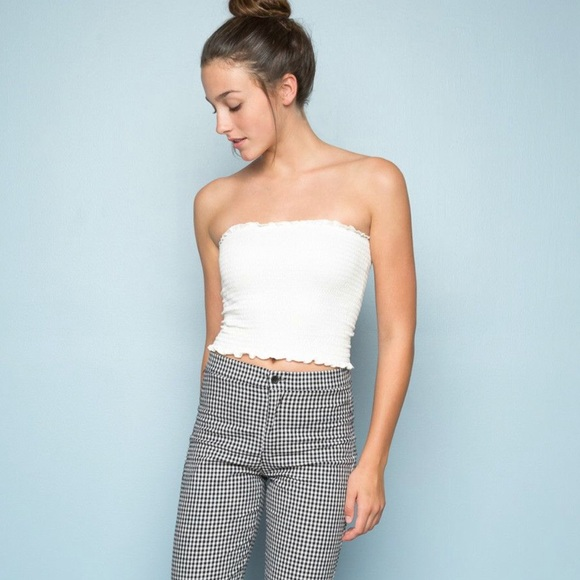 bcaa2ccc6f5 brandy melville cleo white tube top